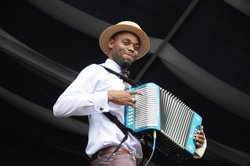 Cedric Watson and Bijou Creole at Jazz Fest 2016
