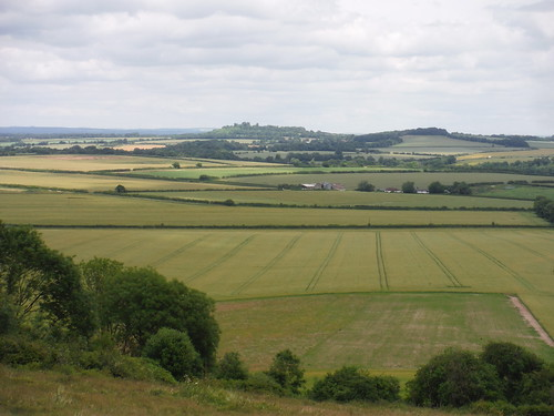 Danebury Hill, Wallop Brook Valley, from Broughton Down