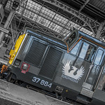 Class 37884 Europhoenix working Rail Operations Group at Preston Station 12.02.2016 Front Cab Logo Shoot