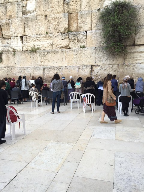 the lady's side of the Wailing Wall