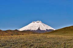 Cotopaxi volcano, early frozen morning