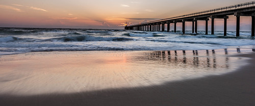 ocean seascape color beach sunrise reflections landscape dawn pier nikon waves outerbanks obx nikond810 140240mmf28