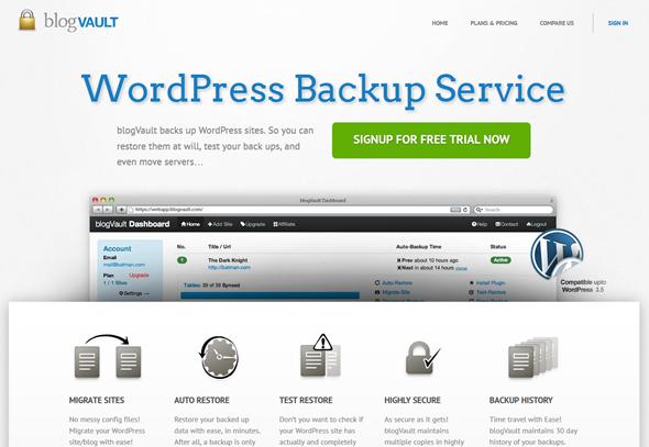 BlogVault WordPress Backup