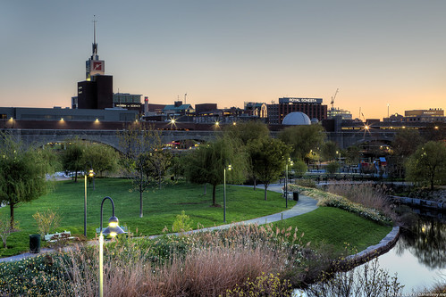 A cool spring sunset at North Point Park in Cambridge, MA #Photography