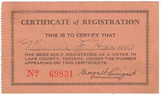 M. Harms registration card