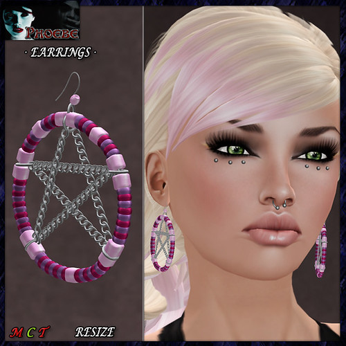 *P* Zaira Earrings ~Pinks~