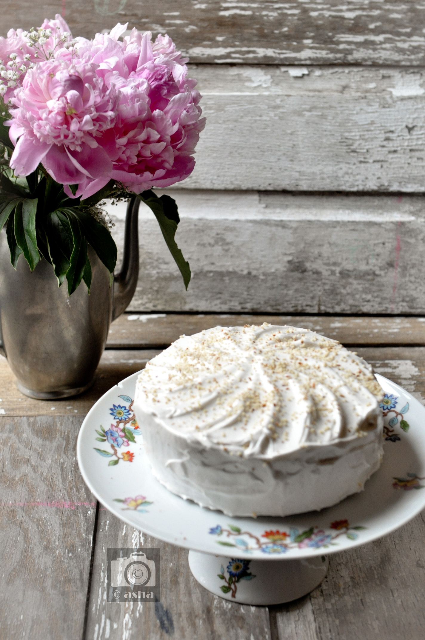 Banana & Almond Birthday Cake for recipe