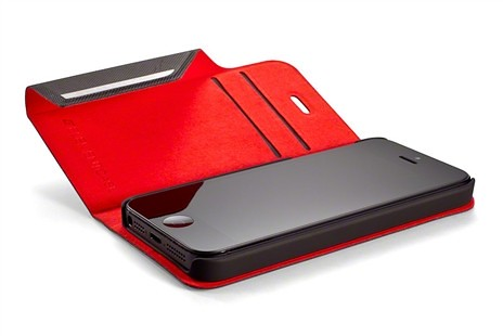 Element Brown/Red Soft-Tec Wallet for iPhone 5