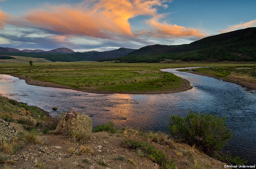 sunset river landscape colorado nationalforest riogrande creede mineralcounty papoosefire