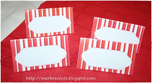 Papeleria Red&White Merbo Events