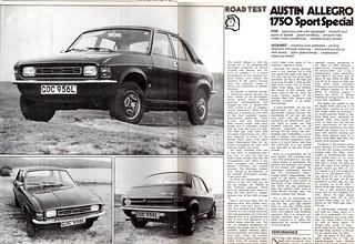 Austin Allegro 1750 Super Special SS Road Test 1973 (1)