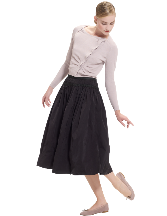 repetto-long-skirts-technical-taffeta-woven-black