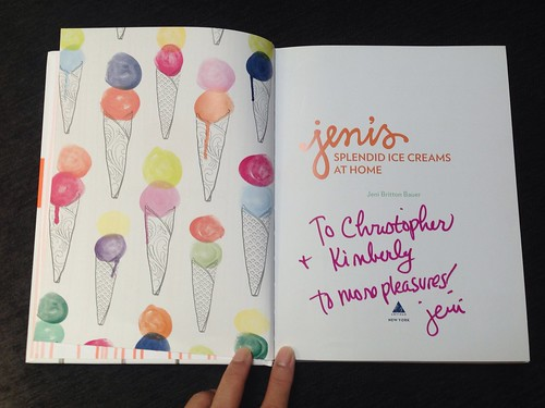 Jeni's Ice Cream Cookbook -- signed!