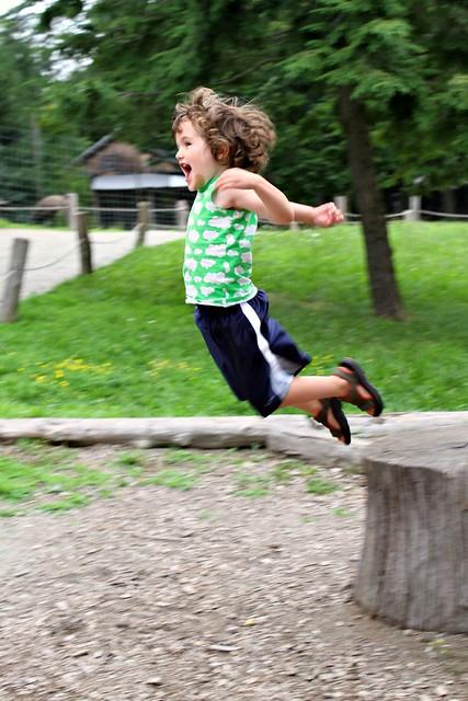 Calvin jumping