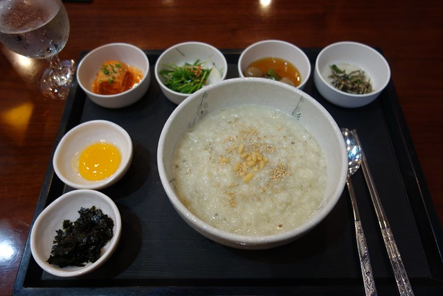 Rice porridge with abalone flavor