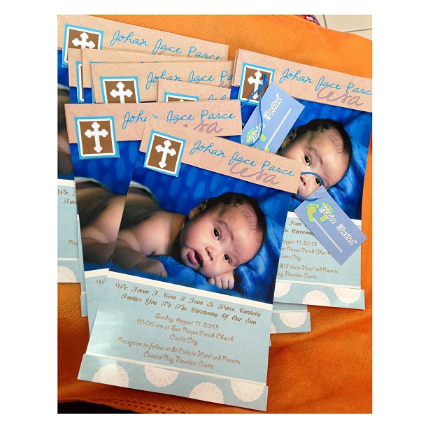 #baptism #popup #invitation  by @papelbyj   #kids #baby #boy #invites #personalized #christening