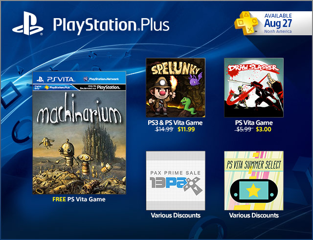 PlayStation Plus Update 8/27/2013