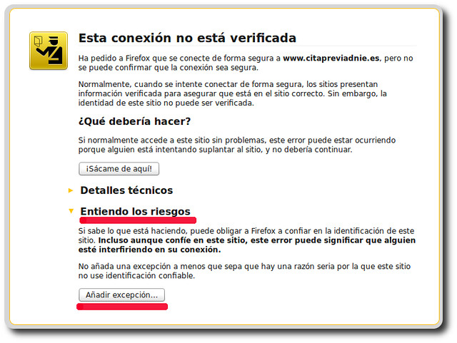 Aviso Firefox