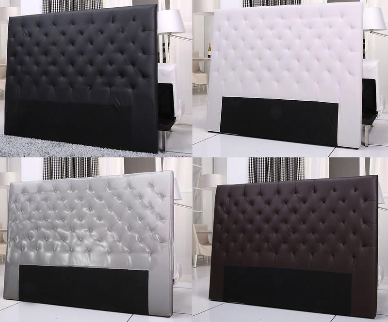 Tete de lit capitonne mobilier sur enperdresonlapin - Tete de lit simili cuir gris ...