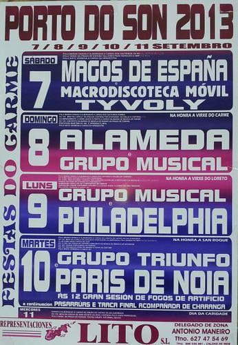 Porto do Son 2013 - Festas do Carme - cartel