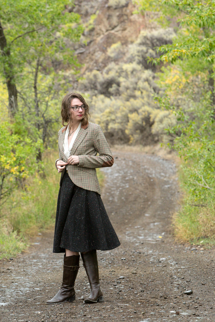 fall, Wool Skirt, equestrian boots, tweed jacket, autumn, rain, withoutastyle, Never Fully Dressed, Without a Style,