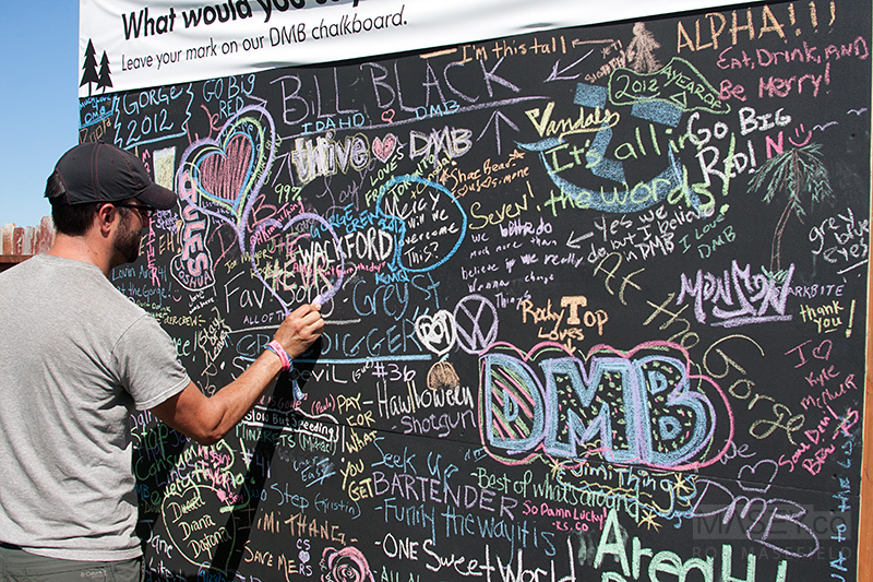 The DMB Chalkboard in VW's 'Area 41'.