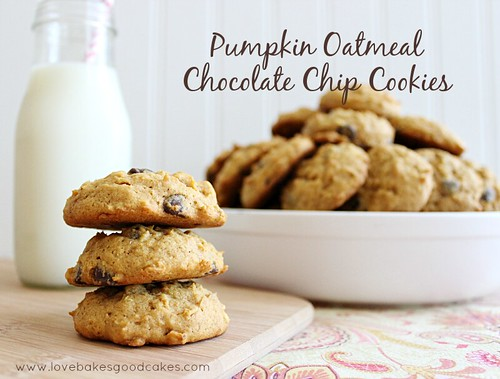 Pumpkin Oatmeal Chocolate Chip Cookies 3