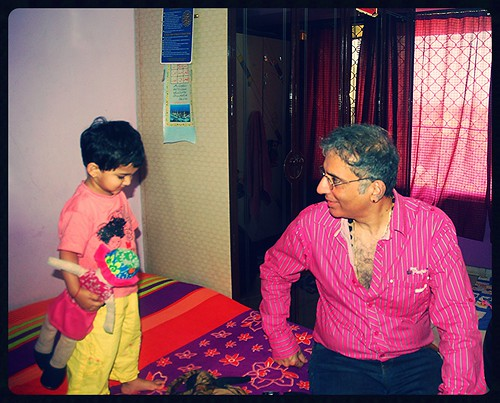 Mr Aditya Raj Kapoor Blesses My House And My Grand Daughter Marziya Shakir by firoze shakir photographerno1
