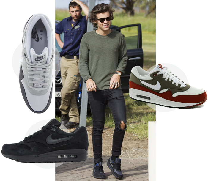 68ef462f1cf1 Harry Styles wears the new Nike Air Max 1