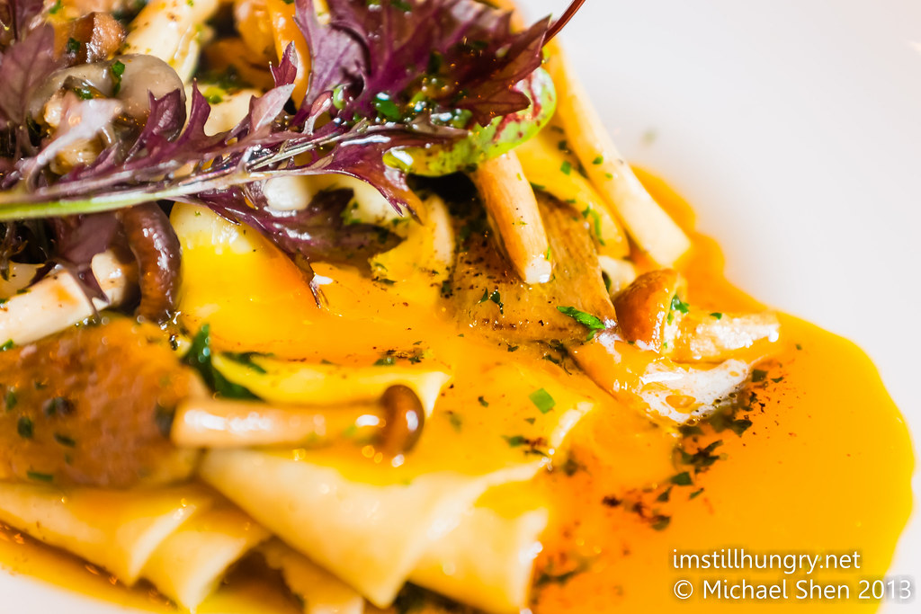 Winter mushroom papardelle ananas bar & brasserie