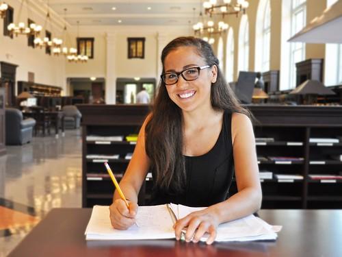 Emory freshman Alexa Dantzler is pursuing a career in sciences
