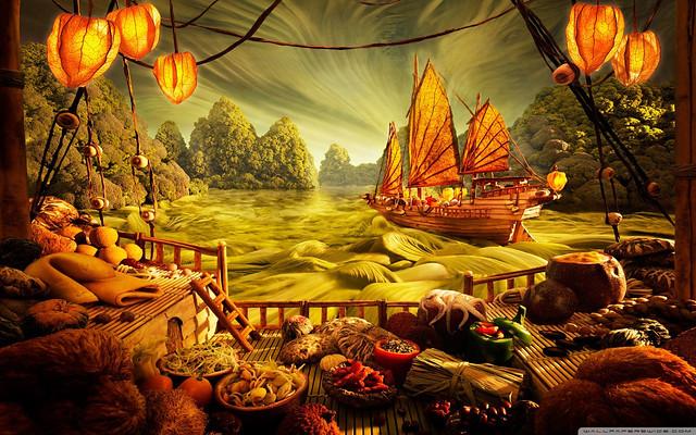 Food Art Landscape HD High Resolution Widescreen Desktop Wallpaper