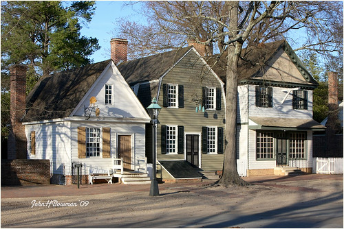 Commercial Buildings Trio Colonial Williamsburg These