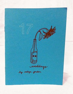 the cover of 17 weddings features a sad flower in a vase