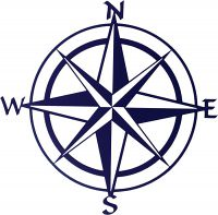 "20"" Compass Rose by Artist Kevin Fletcher"