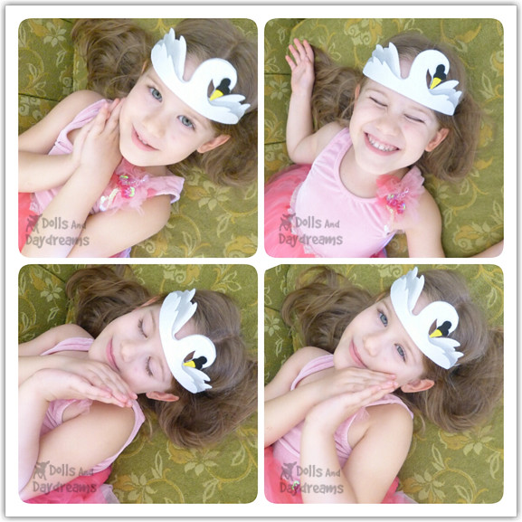 swan princess tiara crown felt diy pdf tutorial copy