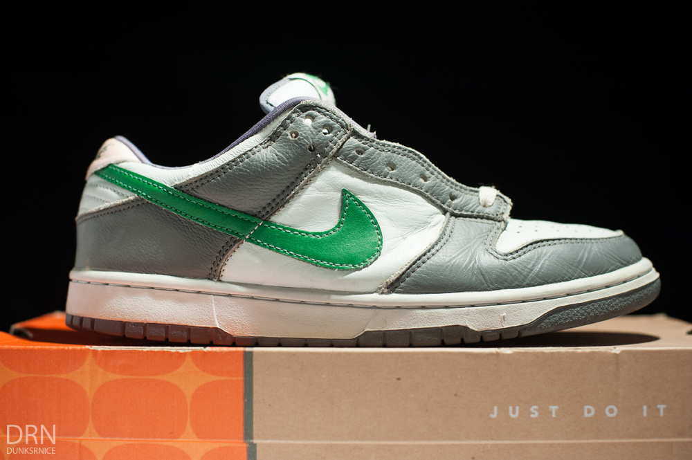 2004 Grey & Green Dunks.