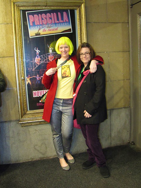 Liz and Corinne outside the Paramount