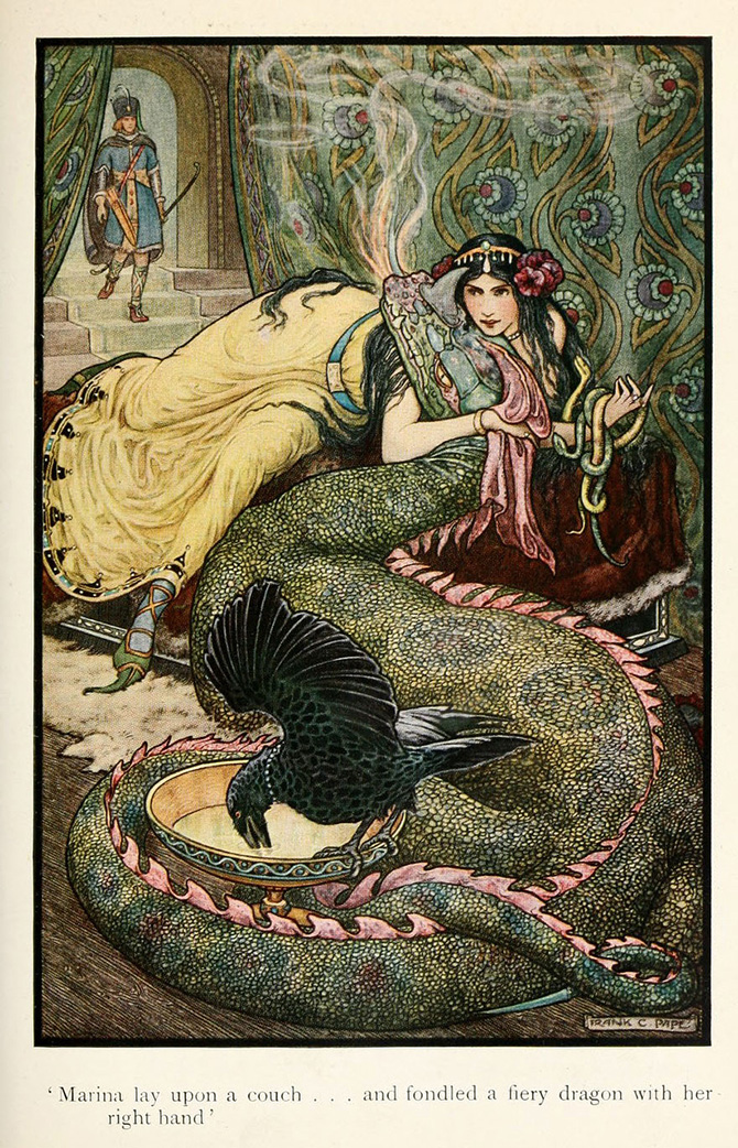 fairy tale, fairy, illustration, illustrator, Russian fairy tales, Frank Cheyne, Russian book of fairy tales, painting, modern,