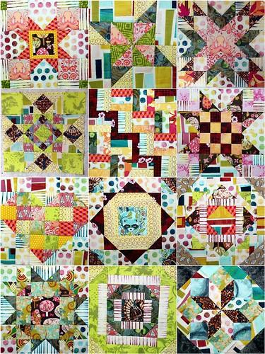 12 Aurifil BOM Blocks by Persimon Dreams, Layout 2