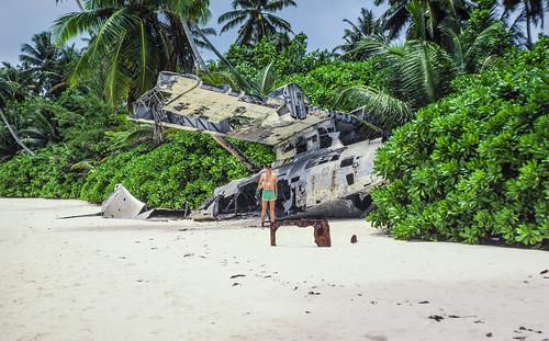 biot britishindianoceanterritory catalina diegogarcia aircraft atoll base beach military wreck kodachrome 35mm slide film