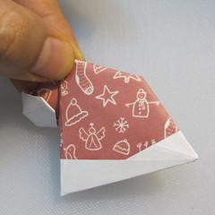 วิธีพับกระดาษรูปหมวกซานต้า 026