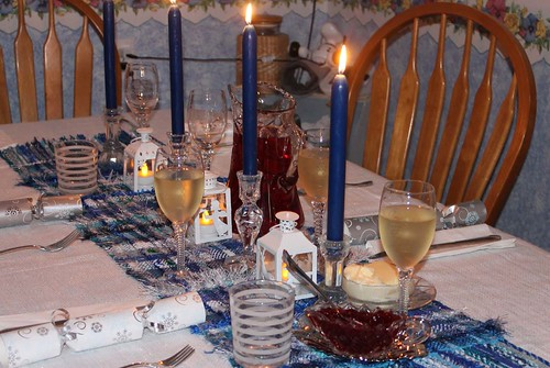 Christmas Blues table runner 3jpg