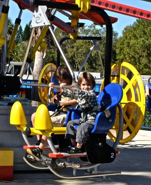Legoland, Florida - flying copter ride