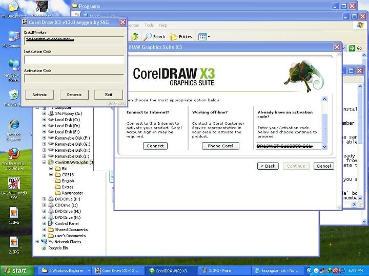 Hướng dẫn cài đặt và crack Corel Draw X3, X5 bằng hình ảnh