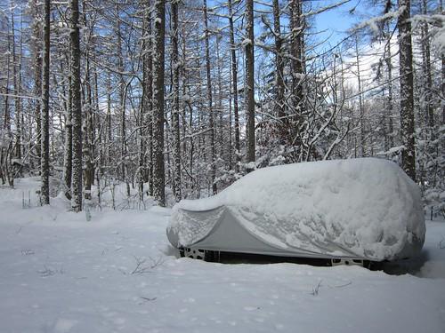雪をかぶったマイカー 2014年1月9日9:27 by Poran111