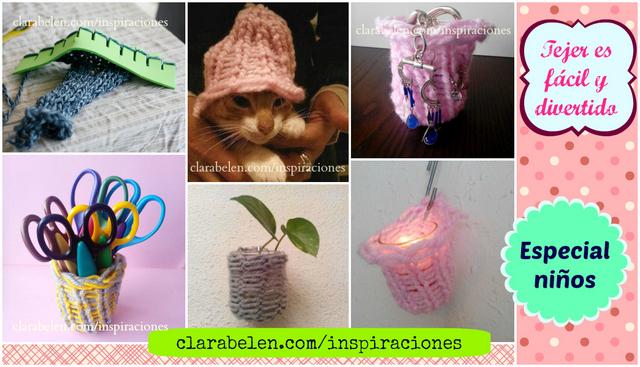 DIY regalos tejidos por los niños en las tejedoras caseras de foami