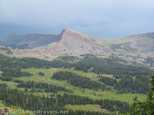 Pyramid Peak View - in the sunshine - Flat Tops Wilderness Area, Routt National Forest, Colorado