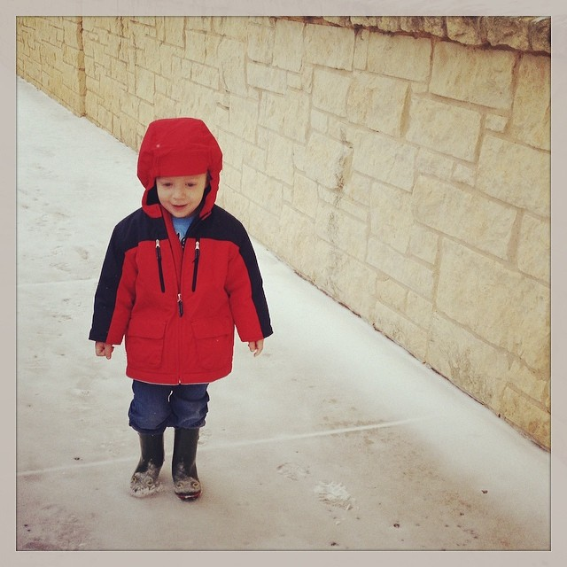 Owen and the snowy day.