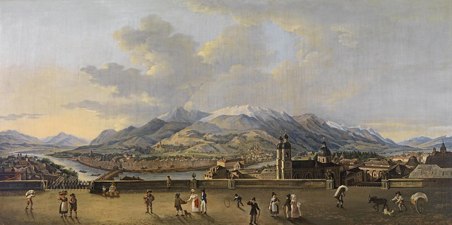 Circle of Friedrich Rehberg - Panorama von Innsbruck (19th Century)
